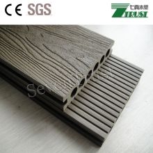 Strong capped WPC co-extrusion decking for outdoor deck floor covering