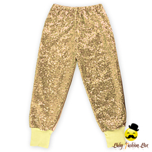 New Fashion Yellow Sequin Baby Leggings Tight Pants Wholesale Kids Pants