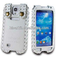 s4 Flip Leather Case showkoo, HOT Cheap Hand Made Cow Genuine Leather Protective Skin Cover For Samsung Galaxy S4 I9500