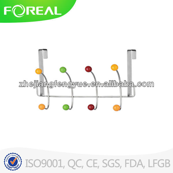 metal clothes overdoor hook with resin balls