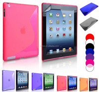 S -Line Soft Flexible TPU Case For Ipad 2 & 3 & 4