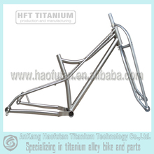 "R12X197 and F15X135 thru axle4.8"" tires titanium fat bike frame"