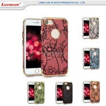 Good Quality Charm Lace Flower Printing Flip Cell Phone Case For Huawei Enjoys 7 Plus/Honor 6x/6a With Electroplating tpu case