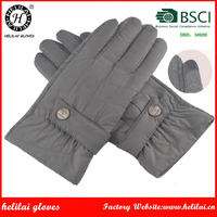 Helilai Factory Gloves Winter Warm Man Grey SmartPhone Nylon and Spendex Gloves