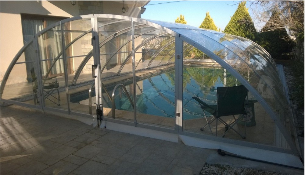 New arrival swimming pool enclosures with aluminium frame for Plexiglass pool enclosure