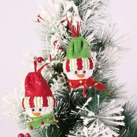 2pcs/set Christmas Tree Decoration Lighting Ornament Party Hanging Snowman Decor Supplies