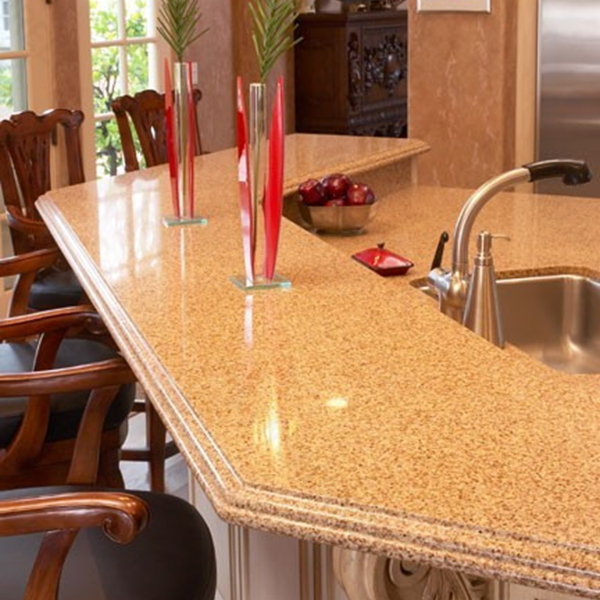 Prefabricated solid surface kitchen countertop / kitchen island top