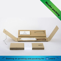 Fancy recyclable corrugated knife paper box