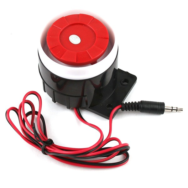 Solar powered 120db battery operated siren and strobe light