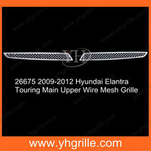 Main Upper Hyundai Elantra Car Bumper Front Parts Chrome Wire Mesh Grille