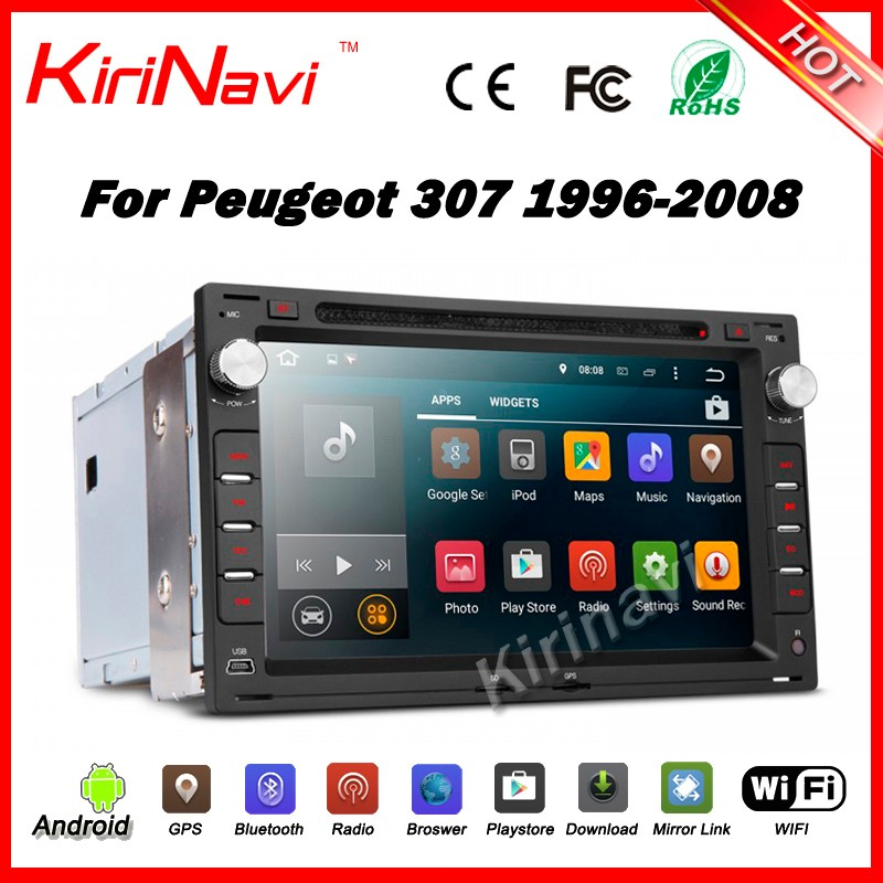 Kirinavi WC-VU7009 Android 5.1.1 touch screen car pc dvd player for peugeot 307 1996-2008 android car radio multimedia wifi 3g