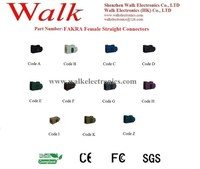 FAKRA Female straight, FAKRA female connector for RG174, RG178, RG316, RG58 cable, antenna cable connector, RF connector