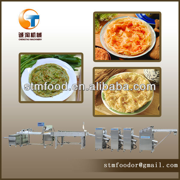 High efficiency machine for making flat bread