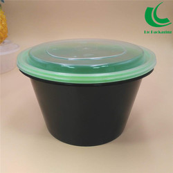 1250ml Plastic Take-Out Round Microwave Food Container For Ready Meal