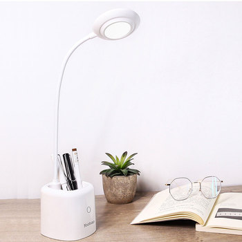 YOOBAO E3 Eye-protecting Reading Lamp with Storage Cylinder Desk Table Warm Light  12 Hours Use Green Pink White Color