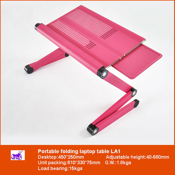Laptop Table Foldable Desk Laptop Lap Desk with Cooling Fan