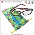 Custom Heat Transferal Printing Microfiber Eyeglass Soft Cloth Pouches with Drawstrings