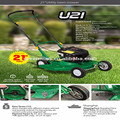 21 inch UTILITY rotary lawn mower with petrol engine and tow behind flail mower
