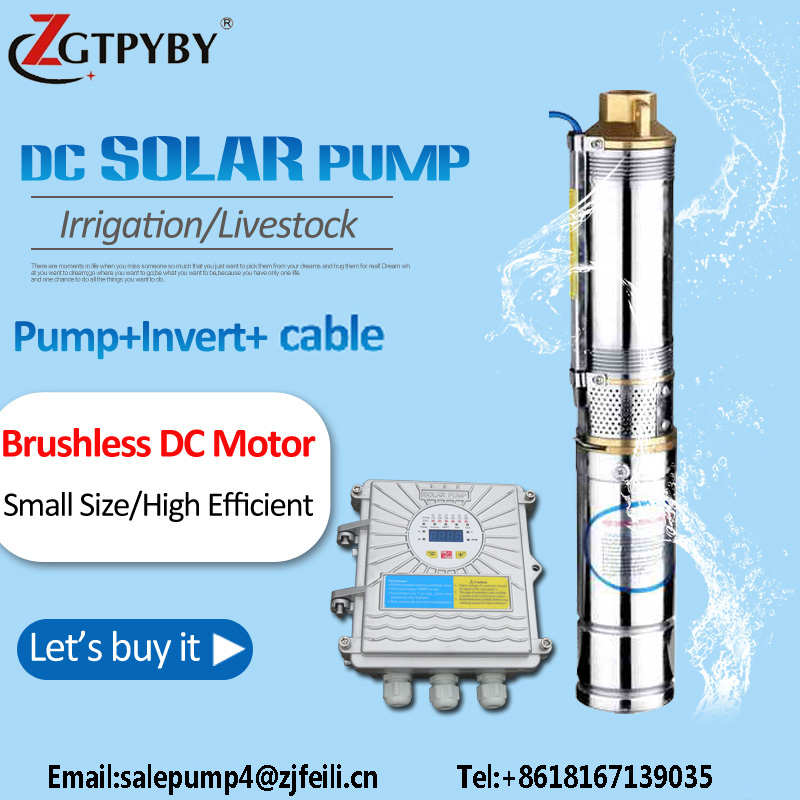 borewell solar water pump for aquarium 72v submersible solar pump