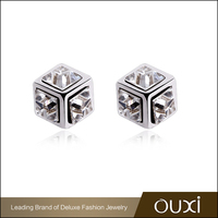 Best Quality Jewelry Supply OUXI Fashion Stud Earrings Factory