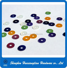 Different color of good quality plastic color washer for screws