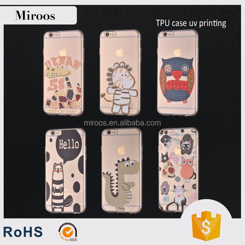 Hot Sale Shenzhen Mobile Phone Shell Simple Plastic UV Print 5.5'' Case for iPhone 6 7