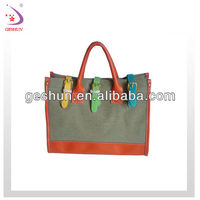 2013 women fashion canvas tote bag