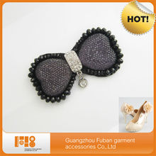 hot sell rhinestone butterfly shoe accessories for women shoes