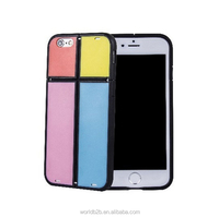 Colorful blocks combinations design Phone Case with stand function