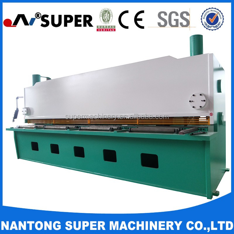 Hydraulic QC11Y-8*25000 Guillotine Metal Cutter Shearing Machine For Copper Plate