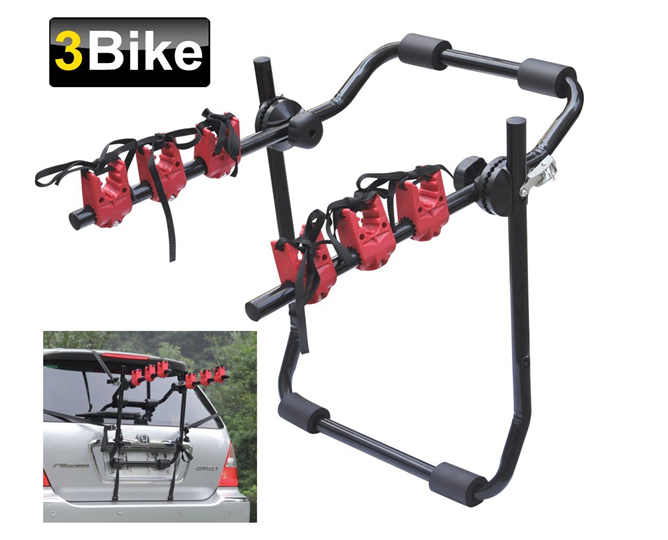 Universal Rear Mounted 3 Bicycle Car Cycle Bike Carrier Rack