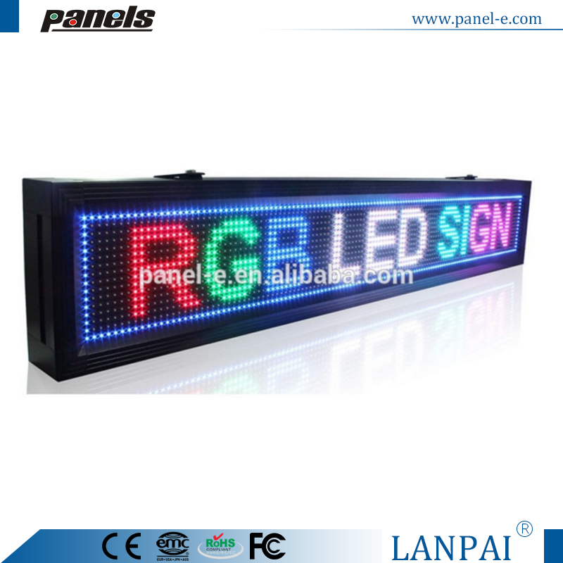 RGB 7 Color Scrolling Outdoor LED Display TCP/IP Programmable Sign Board