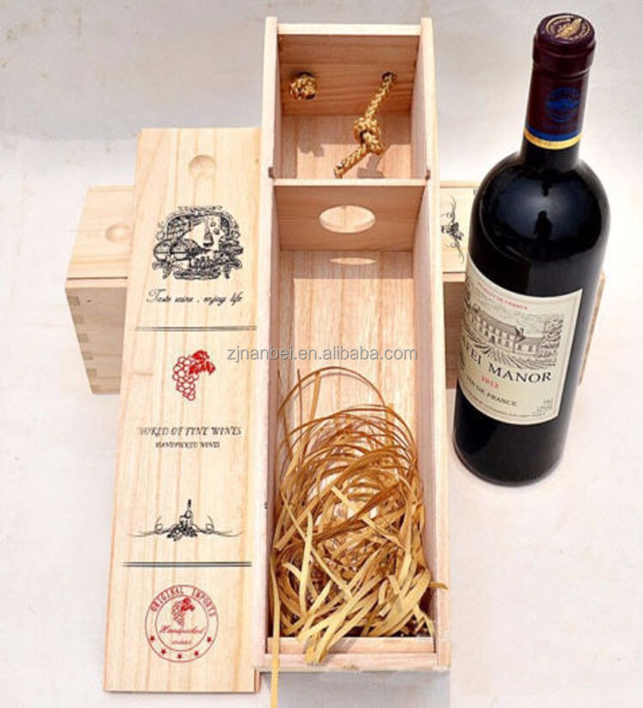 Silk Engraved Logo Wooden Wine Gift Box,Wine Carrying Display Case ...