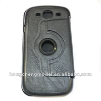 Newest 360 degrees rotating leather case for samsung galaxy S3/i9300