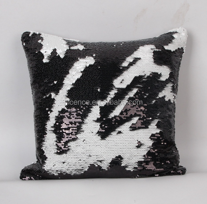 40 x 40 cm Sequin material DIY magic colors change pillow cushion