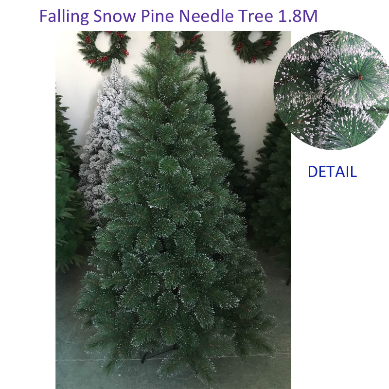 silver tips 6ft 100% pe material pine needle artificial christmas tree