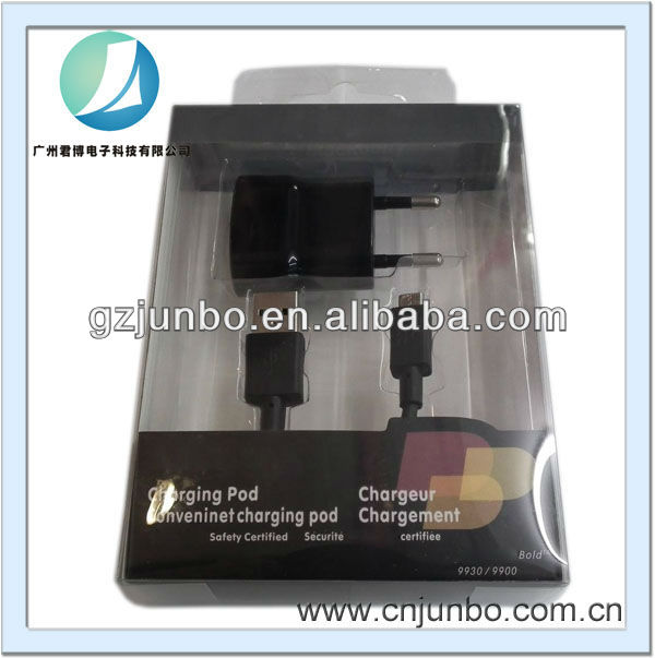 Wall Charger Adapter + Micro USB Data Cable 2 in 1 Charger for Blackberry