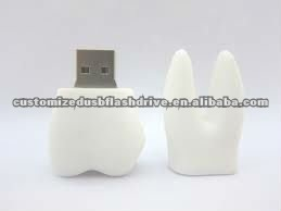 Dentist giveaways 16GB tooth shap USB