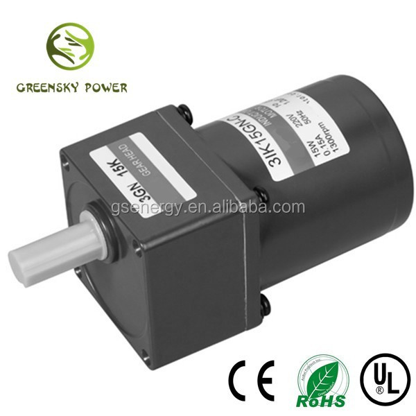 GS high quality UL Approval 15W 70mm AC induction motor for Injection molding machine