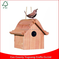 Custom Garden Decor Yard Wren Home Cedar Patio Outdoor Wooden Bird House