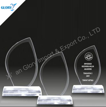 Crystal products wholesale crystal award certificate template made in China