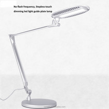 Modern Style double led reading desk light Rechargeable Foldable arm table lamp