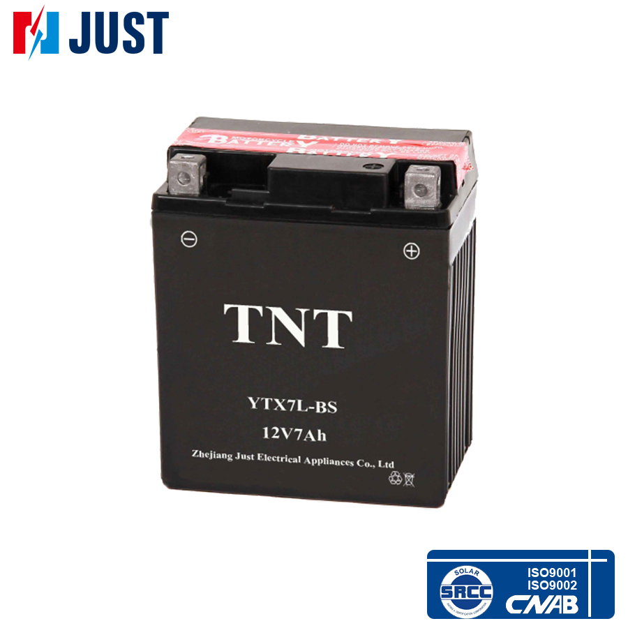 High quality 12v 7ah TNT lead acid mf motorcycle battery for wholesale