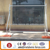 galvanized temporary chain link fence(anping factory)