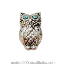 Lastest Styles silver bright eyed owl Floating Charms For Lockets
