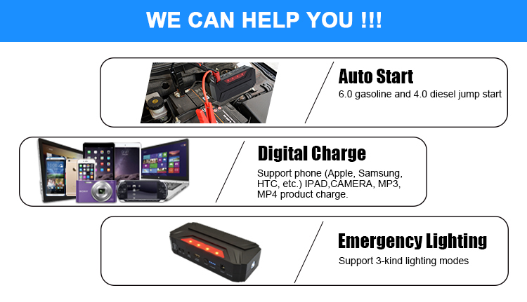 Best sale top quality multi-function power bank powerful mini auto jump starter lipo car battery