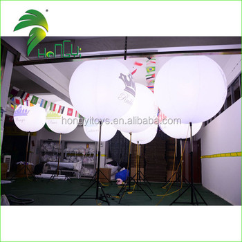 Air Filled Exhibition Promotional Multicolor Inflatable Tripod Pole Balloon Stand