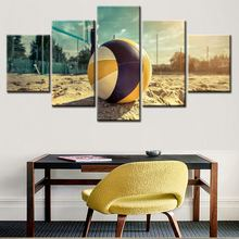 5 panel frameless artwork Custom printed pictures colorful canvas art wall painting for living room factory direct sale