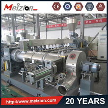 PVC cable material extruder machine/two-stage extrusion line/twin-single screw extruder with high speed mixer