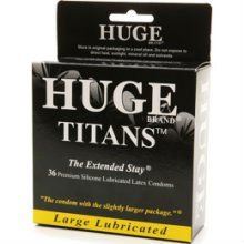 Huge Brand 36-Pack Large Lubricated Condoms (The Extended Stay), 36 ea